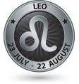 Leo zodiac silver sign leo symbol vector image vector image