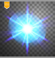 light digital star on the transparent background vector image