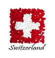 love switzerland flag heart glossy with love vector image vector image