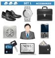 Male Accessories Set 1 vector image vector image