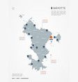 mayotte infographic map vector image vector image