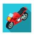 Motorcycle icon in flat style isolated on white vector image