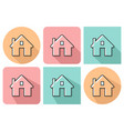 outlined icon of home with parallel and not vector image vector image