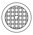 Pie with lattice top icon outline style vector image vector image