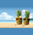 realistic summer composition vector image vector image