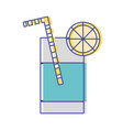 refreshment in bottle glass to drink vector image vector image