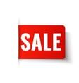 Sale - red tag in paper style vector image vector image