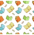 Seamless Book Pattern vector image vector image