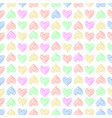 seamless pattern background with lace heart vector image vector image