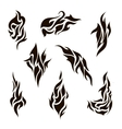 set abstract silhouette tattoo vector image