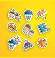 set autumn stickers vector image vector image