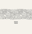 social media banner concept vector image