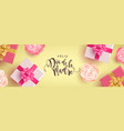 spanish mothers day banner gifts and flowers vector image vector image