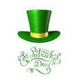 st patrick s day 3d hat vector image