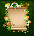 st patricks day scroll frame vector image vector image