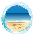Summer 2014 holiday card vector image vector image