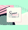 summer sale background layout bannersvoucher disc vector image