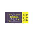 template baseball ticket vector image vector image