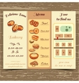 Template Booklet Bakery vector image vector image