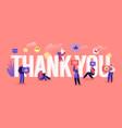 thank you concept grateful blogger or media vector image