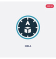 two color qibla icon from religion concept vector image vector image