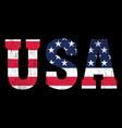 usa - retro american flag stars vector image