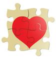 Valentine puzzle vector image