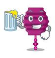 with juice paper lantern mascot cartoon vector image