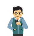 Young Man With Smartphone vector image vector image