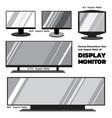 2d flat monitors vector image