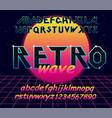 80 s retro alphabet font typography vector image