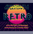 80 s retro alphabet font typography vector image vector image