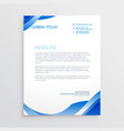 abstract blue business letterhead template vector image vector image