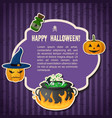abstract halloween traditional greeting poster vector image
