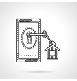 Affordable housing flat line icon vector image