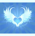angel's heart vector image vector image