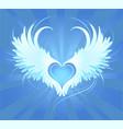 angel's heart vector image vector image