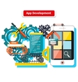 App Development Concept vector image