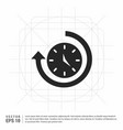 arrow clock icon vector image