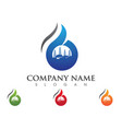 b letter fire flame logo template vector image