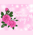beautiful pink roses bokeh background happy vector image vector image