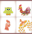 birds set on white background vector image vector image