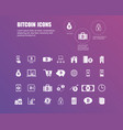 bitcoin icons for currency exchange online on vector image vector image