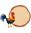 blank sign template with chicken on white vector image vector image