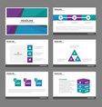 Blue green purple presentation templates design vector image vector image