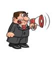Boss yelling into megaphone 2 vector image vector image