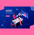 business flat isometric infographic vector image vector image