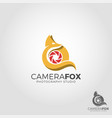 camera fox - fox photography studio logo vector image