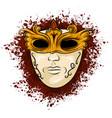 carnival golden mask vector image
