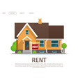 cartoon concept rent house vector image